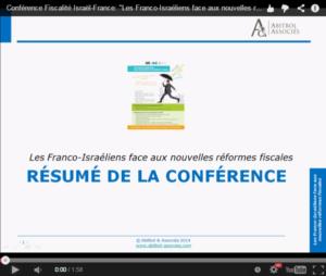 Fiscalité Israël-France: Résumé de la Conférence du 22.10.14 1