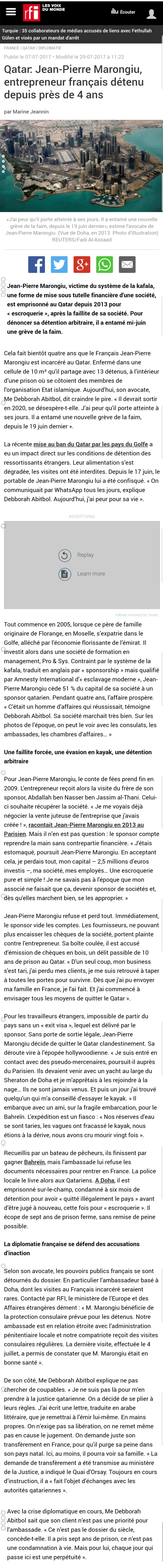 RFI Affaire MARONGIU
