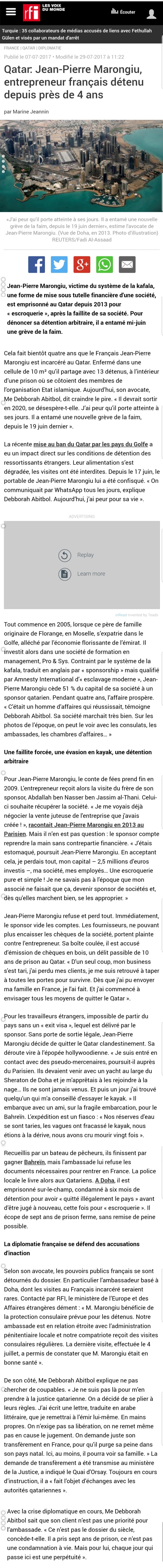 RFI Affaire MARONGIU