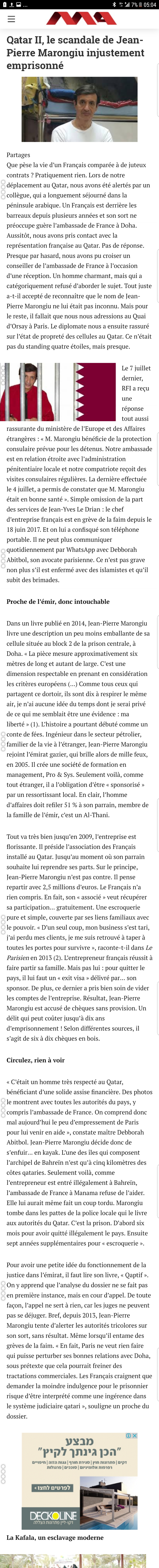 article Mondafrique Affaire Marongiu